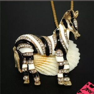 New Betesy Johnson zebra necklace